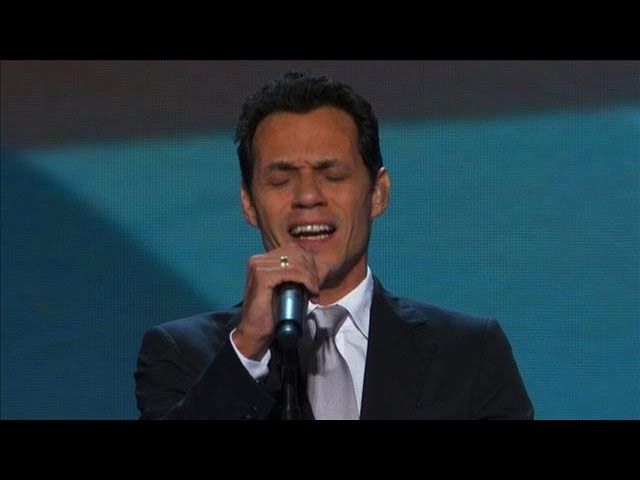 Marc Anthony Performs the National Anthem at DNC