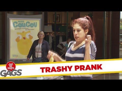 Versteckte Kamera - Rabid Trash Can Prank
