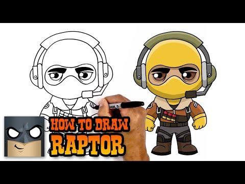 How to Draw Raptor | Fortnite (Art Tutorial)