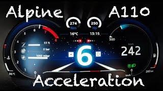 0-240 km/h Alpine A110 Première Edition // Revving Acceleration Launch Control