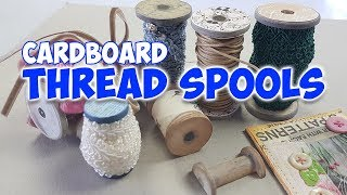 cardboard thread spools look like wooden thread spools