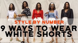 9 Ways to Wear White Shorts | Style by Number | Song of Style Collection | Aimee Song