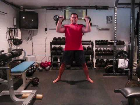2 Arm Kettlebell Clean and Press/ 2 x 16 kg Image 1