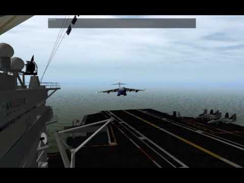 C 17 On Aircraft Carrier X-Plane: Landing C-17 ...