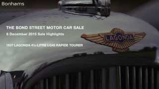 The Bond Street Sale Highlights: The 1937 Lagonda 4½-Litre LG45 Rapide Tourer