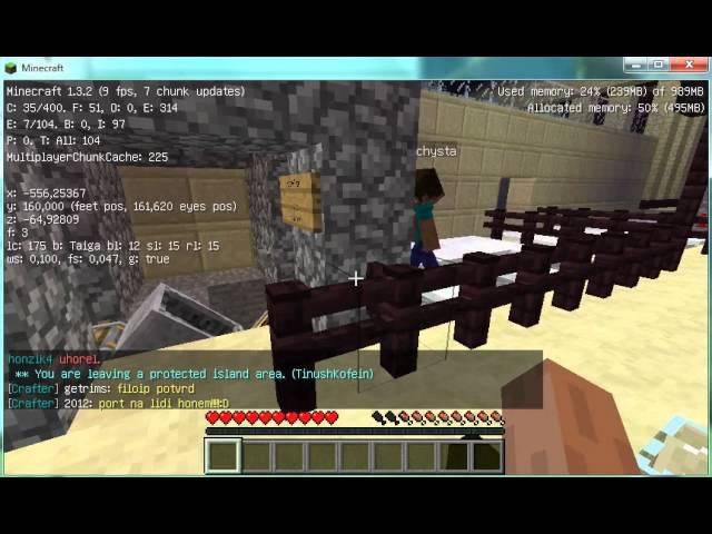 Minecraft Pozvánka.SKYBLOCK. 1.3.2.verze
