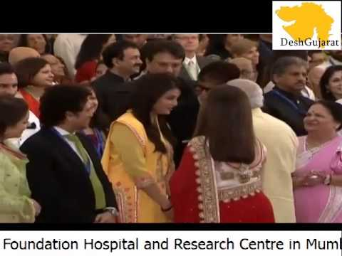 Narendra Modi meets dignitories present at Sit HN Reliance Foundation hospital