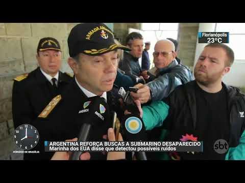 Marinha americana detecta ruídos que podem ser de submarino desaparecido | SBT Brasil (20/11/17)