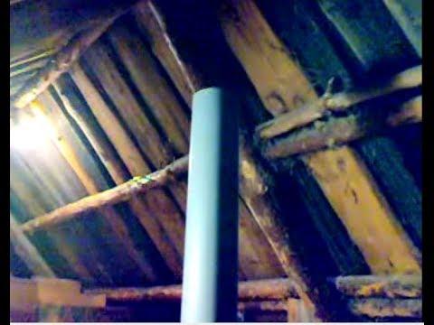 Вентиляция погреба через крышу.