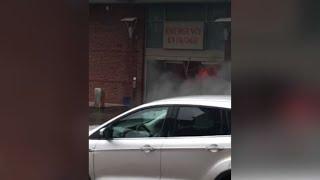 Steven Pellam Crashes Into Hospital, Sets Self on Fire