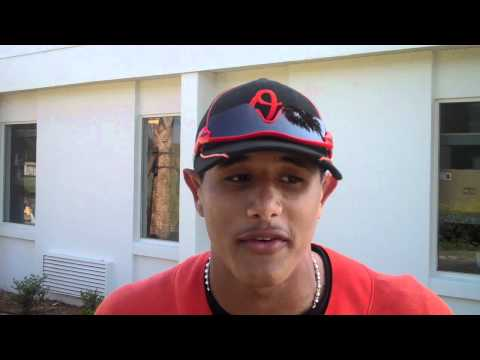 On the back fields with... Manny Machado