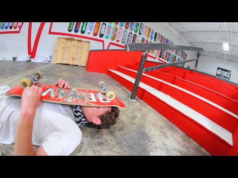 You Must Do 25 Tricks Down The Handrail! / Warehouse Wednesday!