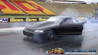 BK RACE ENGINES TWIN TURBO MUSTANG 6.74 @ 210 MPH SYDNEY DRAGWAY 12.9.2014