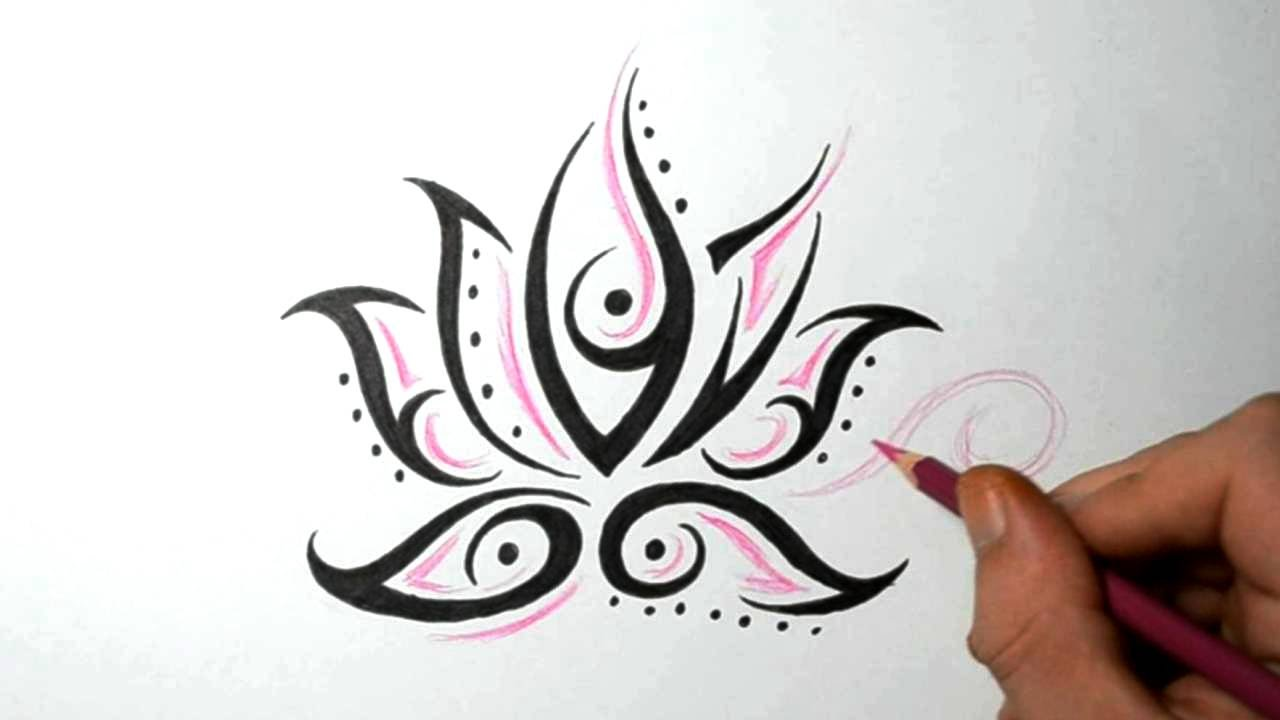 Lotus Flower Tattoos Quick Design Sketch Idea Youtube