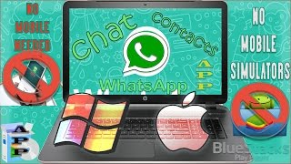 How to Download Install Whatsapp Application in Windows PC 8/10 or Mac Computer without Bluestacks