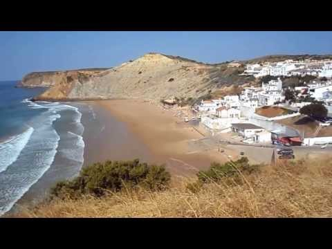 Praia do Burgau Beach, Vila do Bispo Algarve HD