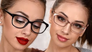 MAKEUP FOR GLASSES | 3 EASY EVERYDAY Makeup Looks