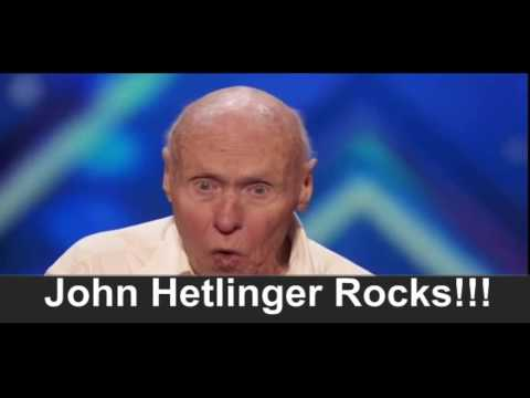 John Hetlinger Singing Let The Bodies Hit The Floor.