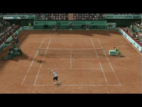 Grand Slam Tennis 2 - Hewitt vs Federer and career mode - Xbox 360 (1080P)