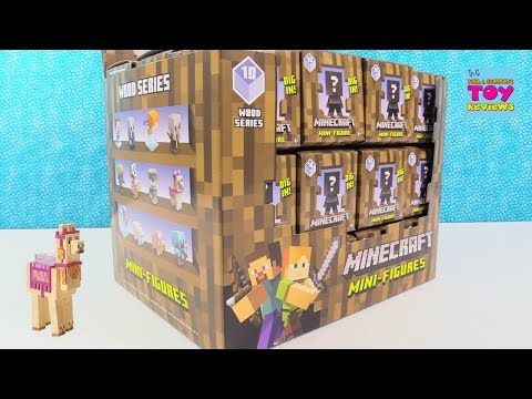 Minecraft Wood Series 10 Mini Figures Full Set Unboxing Toy Review   PSToyReviews