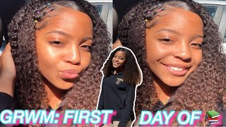GRWM: FIRST DAY OF SCHOOL *FRESHMAN YEAR* + VLOG 📚