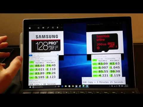 200GB vs 128GB   Samsung Pro+ vs. Sandisk Ultra Microsdxc Showdown!