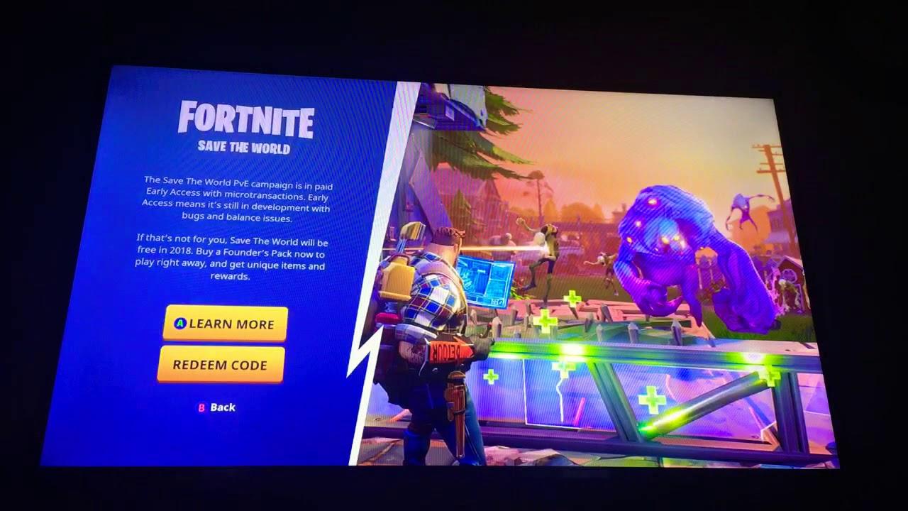 Save World Game Mode Fortnite Fre
