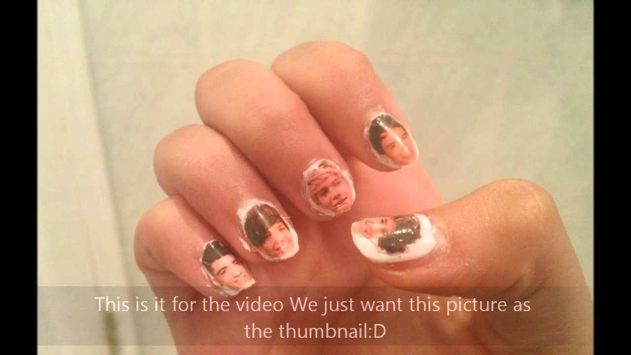 One Direction Nail Art Faces