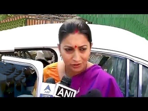 'Judge me by my work': Smriti Irani's first response to controversy over her education