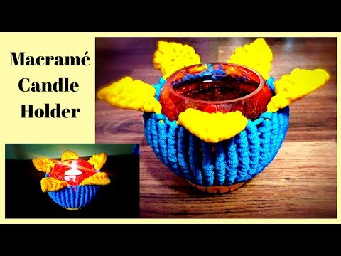 Christmas special DIY tutorial of Macrame Candle Holder | Candle stand | Diyas stand