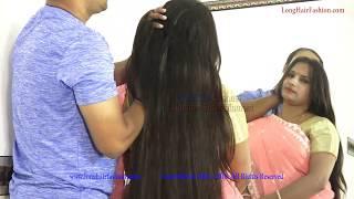 Long Hair Sejal Enjoying ASMR Scalp Massage by Male