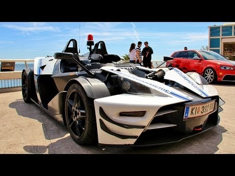 Police KTM X-Bow R Ride : 2 Hot Laps Around Monaco !