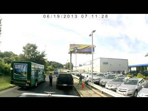 Semi vs road rage Black SUV June 19