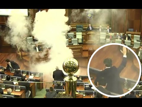 Kosovo political opposition disrupts parliament with smoke bomb