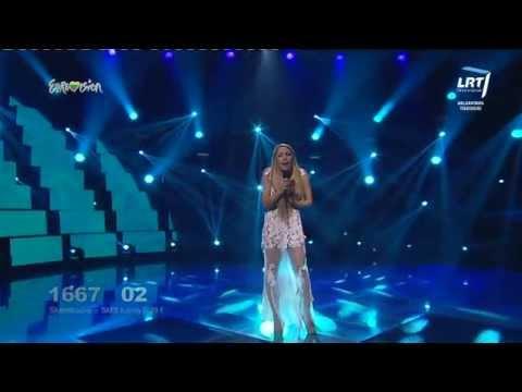 """Atlikėja Liepa Mondeikaitė atliko eurovizinę dainą """"Take My Love"""""""