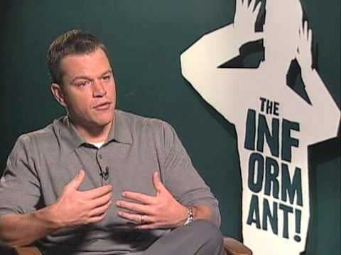 Matt Damon - The Informant Interview