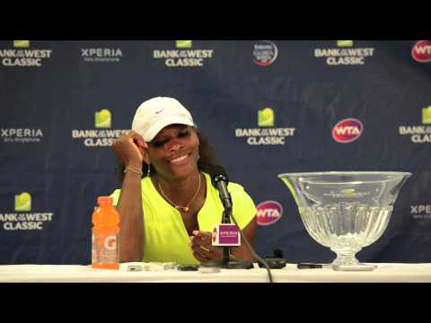 Serena Wiliams Press Conference - 2012 Bank of the West : American Players and Loving the 80's
