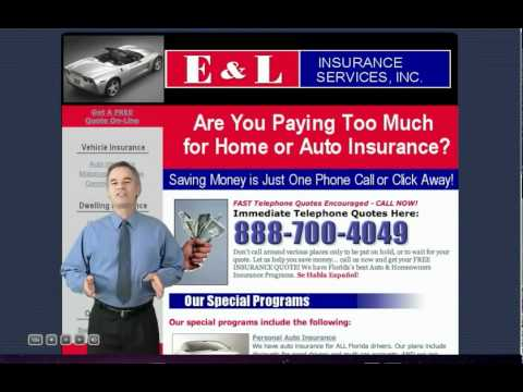 E&L INSURANCE SERVICES  Florida Home Insurance Florida Auto Insurance Miami auto Insurance