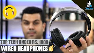 Top Tech - Top Tech Wired Headphones Under Rs. 1000 - Budget Shopping