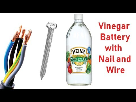 Generate Electricity From Vinegar At Home - Cool Science Experiment...
