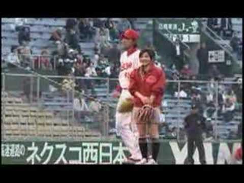 石原さとみが広島市民球場で始球式