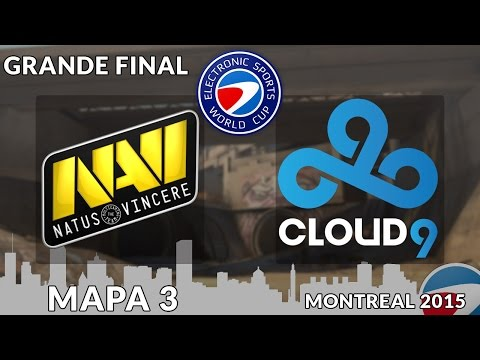 ESWC Montreal 2015 - Natus Vincere vs. Cloud 9 (Mapa 3 - Overpass) - Narração PT-BR