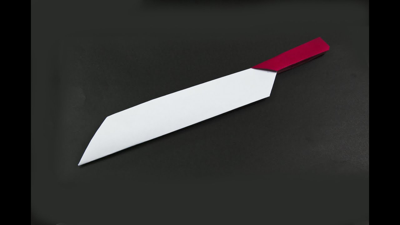 Как сделать из бумаги нож который складывается