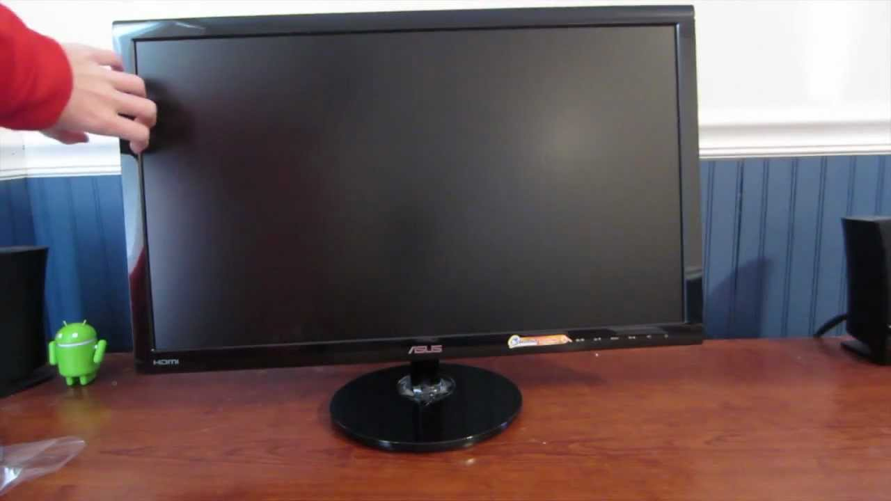 Asus VS248H P 24 Inch Full HD LCD Monitor Unboxing