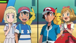 Pokemon Characters Battle: Ash and Lillie Vs Ash and Serena (Amourshipping Battle)