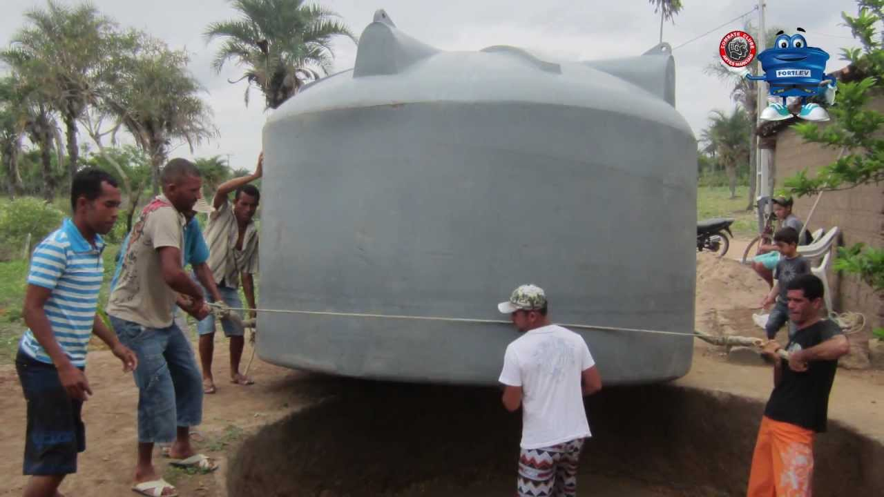 Cisterna de polietileno fortlev youtube for Estanque de agua 10000 litros precio