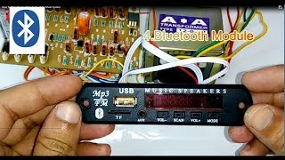 How To Make Bluetooth Audio Amplifier (Music System)