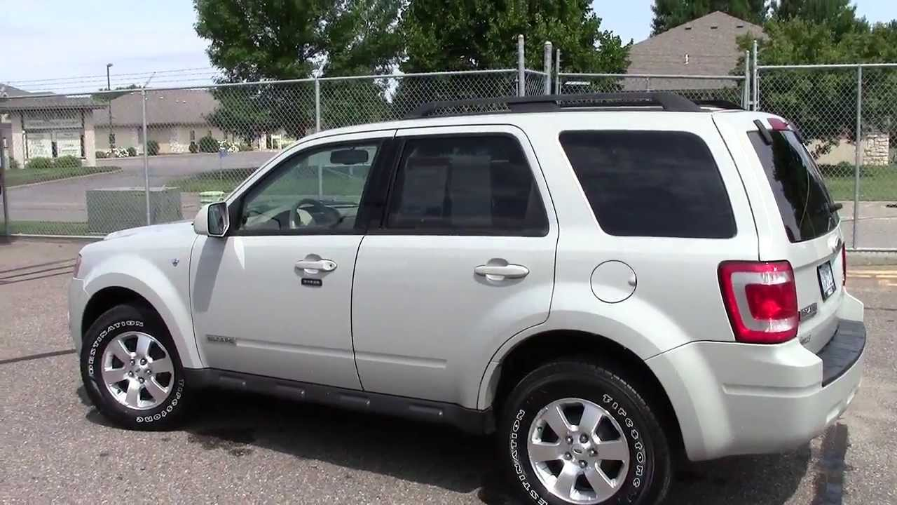 2008 ford escape 4wd limited youtube. Black Bedroom Furniture Sets. Home Design Ideas