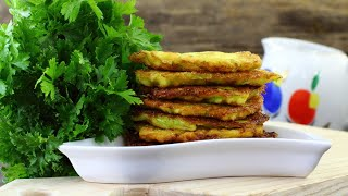 Оладьи из кабачков c манкой — видео рецепт