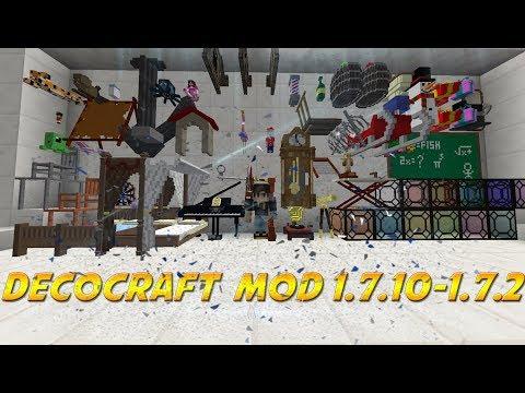 Descargar e Instalar Mod DecoCraft para Minecraft 1.7.10 - 1.7.2 / 2018